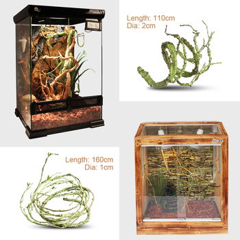 110/160cm Artificial Vines Flexible Jungle Pet Reptile Bendable Lizard Snake Climber Reptiles Terrarium Habitat Decoration