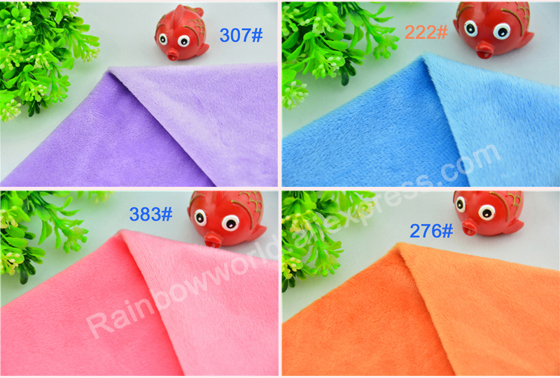 199# black color Super soft short hair 2-3mm Fleece Fabric velvet microfiber velboa for DIY patchwork toy shoes sofa pillow