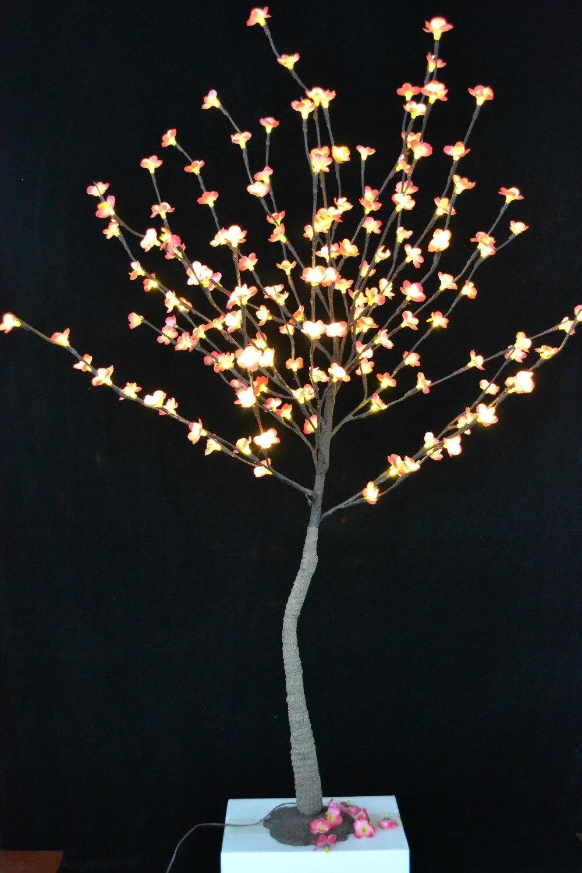 Oferta especial 2 pc/lote 52 com 160 pcs plum blossom árvore de luz em 3 v de tensão com base, Luz galho De Árvore com flores blossome