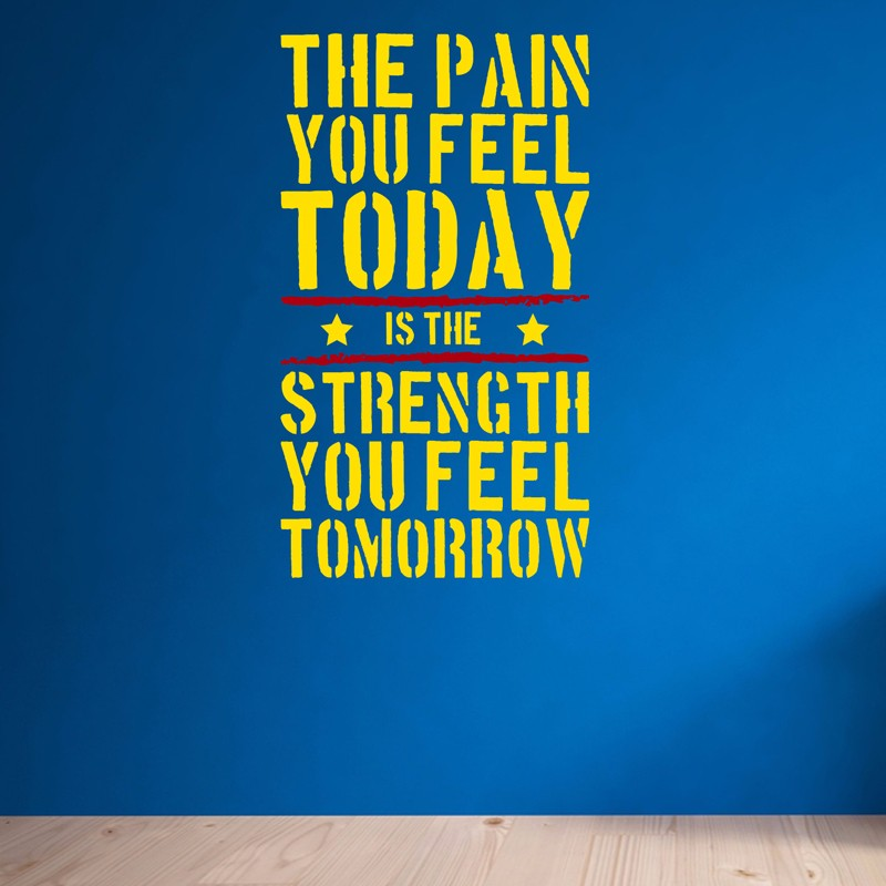 The pain you feel today home gym motivational wall
