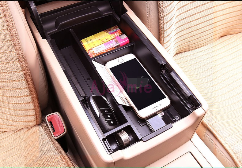 Interior Storage Box Console Armrest Case 2012 2013 2014 2015 2016 2017 Car Styling For Toyota Camry Accessories in Chromium Styling from Automobiles Motorcycles