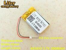 Replacement 3.7V 200mAh li-Polymer Li-ion Battery For SONY MP3 NW-E002 NW-E003 NW-E005 Original plug 401833