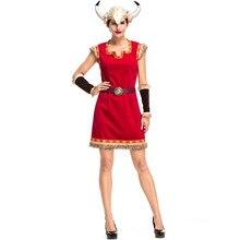 Umorden Lady Women Viking Princess Female Warrior Costume Halloween Purim Carnival Costumes Dress Up
