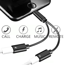 Double jack Audio Adapter For lightning iPhone 7 8 X Charging Call or Music and 3.5mm jack headphone Audio Converter iOS 12.1.3 double jack audio adapter for iphone 7 8 x xs xr support ios 12 charging music or call for lightning headphone adapter converter