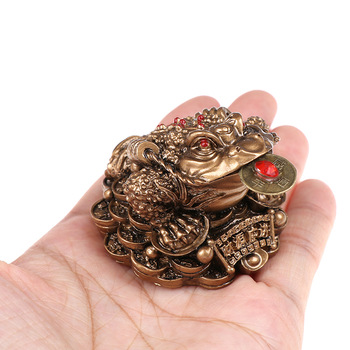 Feng Shui Toad Money LUCKY Fortune Wealth Chinese Golden Frog Toad Coin Home Office Decoration Tabletop Ornaments Lucky Gifts 1