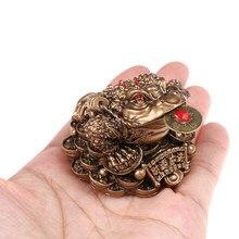 Sapo de sapo chinês de feng shui, enfeites de decoração para casa, escritório e presentes de sorte, dinheiro da sorte