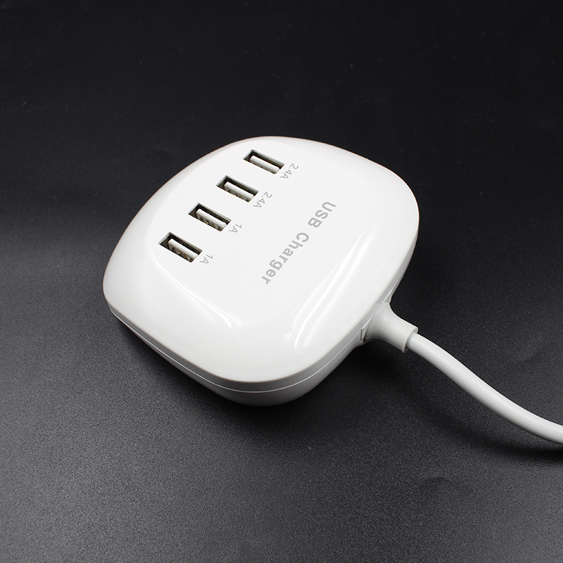 Universal EU Plug USB Charger Fast Charging 6 8A 4 Port USB Travel Charger Adapter for Samsung Xiaomi for iPad iPhone X 8 7 6S in International Plug Adaptor from Consumer Electronics