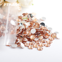 6.5MM SS30 Champagne 3D Acrylic Rhinestones 1000Pcs/Lot With Round Flatback For Nails Decorations Bags DIY Craft Arts Design