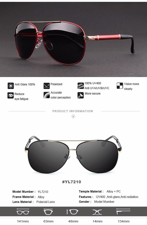2017 Retro Quality Brand Original Sunglasses Men Polarized Lens Vintage Eyewear Accessories Gold Sun Glasses Oculos For Men 2