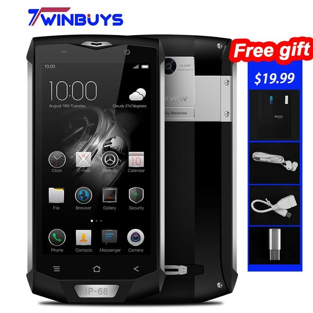 "Blackview BV8000 Pro Waterproof IP68 4G Rugged Mobile Phone 5.0"" MTK6757 Octa Core Android 7.0 6GB+64GB fingerprint 16MP 4180mah"