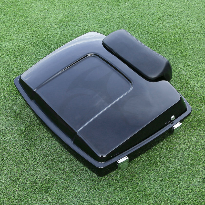 Motorcycle Razor Tour Pak Pack Trunk w/ Backrest Pad For Harley Touring 97-13 FLHX FLHT Electra Street Glide Road King