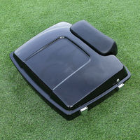 Motorcycle Razor Tour Pak Pack Trunk w/ Backrest Pad For Harley Touring 97 13 FLHX FLHT Electra Street Glide Road King