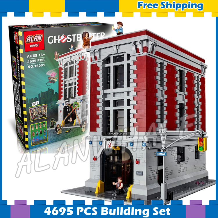 4695pcs Ghostbusters Firehouse Headquarters Big House Fire Station Model Building Kits Blocks Children Sets Compatible With lego 4695pcs lepin 16001 city series firehouse headquarters house model building blocks compatible 75827 architecture toy to children
