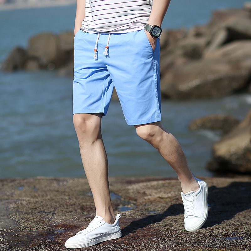 Hot Solid Shorts Men Summer Casual Elastic Waist Short Pans Pure Color Cotton Shorts Plus Size M-5XL Free Shipping Homme Marque