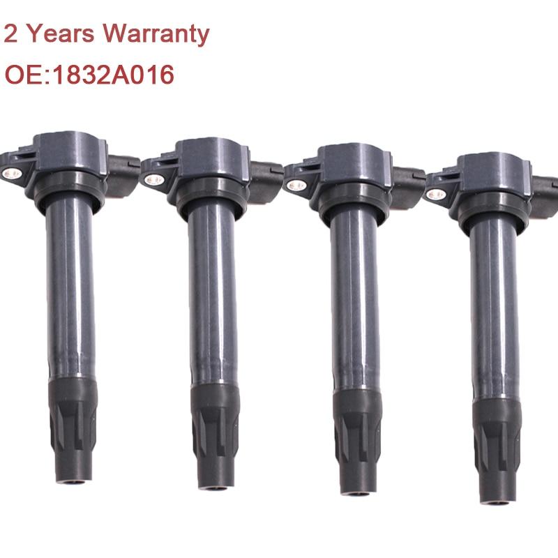 4PCS Lot NEW 1832A016 Ignition Coils For 05 11 Mitsubishi Lancer 2 0 2 4 Outlander