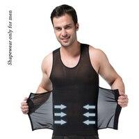 Professional Sexy Men Body Shaper Waist Cincher Slimming Vest Belly Belt Male Compress Brand Weight Control