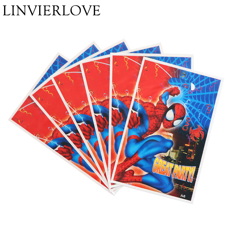 Garden Supplies Orderly 6pcs/pack Spiderman Plastic Loot Bags For Kids Boys Girls Birthday Baby Shower Cartoon Theme Gift Return Bags Party Supplies 100% Original