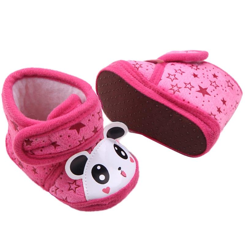 Newborn Warm Baby Girl Boots 0-12 Months Anti-slip Soft Sole Slipper Shoes