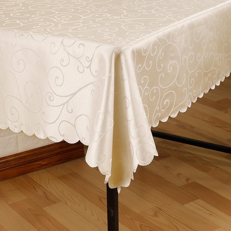 Todos os tamanhos jacquard impresso flor toalha de mesa padrão verificado toalha retangular redondo banquete festa de casamento decoração do hotel