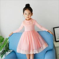 Brand Kids Girls Dress Autumn Winter Warm Kids Party Wedding Pearl Formal Tutu Princess Baby Girls