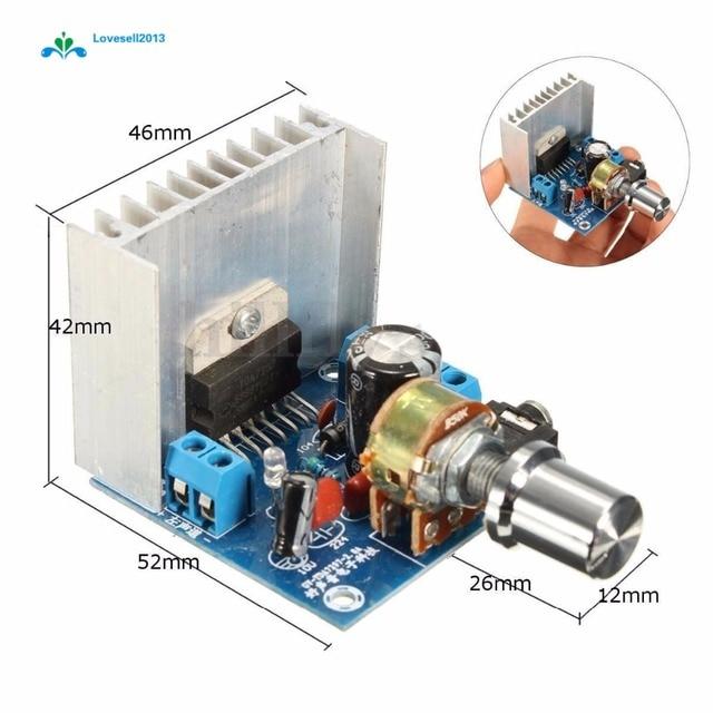 AC/DC 12V TDA7297 2x15W Digital Audio Amplifier DIY Kit Dual Channel Module
