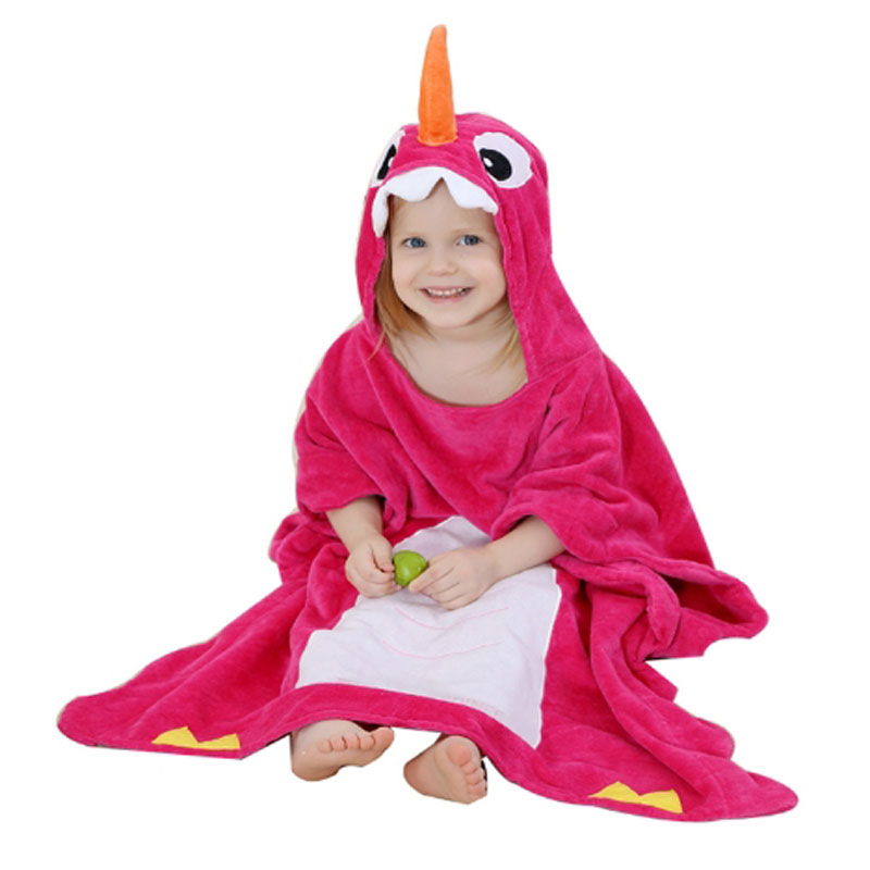 54ac1f8613 Baby Bathrobe Hooded Animal Cartoon Cute Infant Towel Unicorn Pajamas Boys  Girls Coral Bath Robes Toddler Blanket Sleepwear Robe-in Robes from Mother    Kids ...