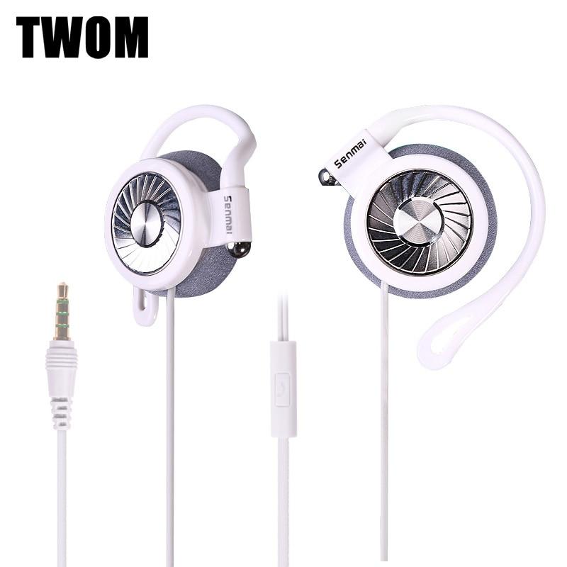 RUKZ iH850 Ear Hook Sport Earphones for Mobile Phone with Microphone Headset DJ Stereo BASS Universal Wired Running Headphones