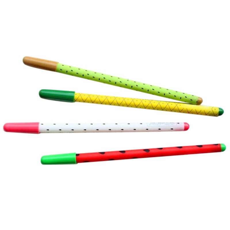 2 PCS of 12pcs Creative Fruit Black 0.35mm Gel Pen, Cute Stationery