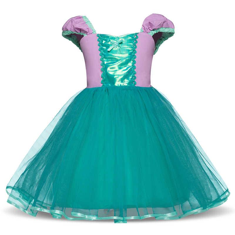 Детские платья принцессы Белоснежки, Золушки, Софии для девочек, От 2 до 6 лет, карнавальный костюм, вечерние платья принцессы с фатиновой юбкой-пачкой для младенцев