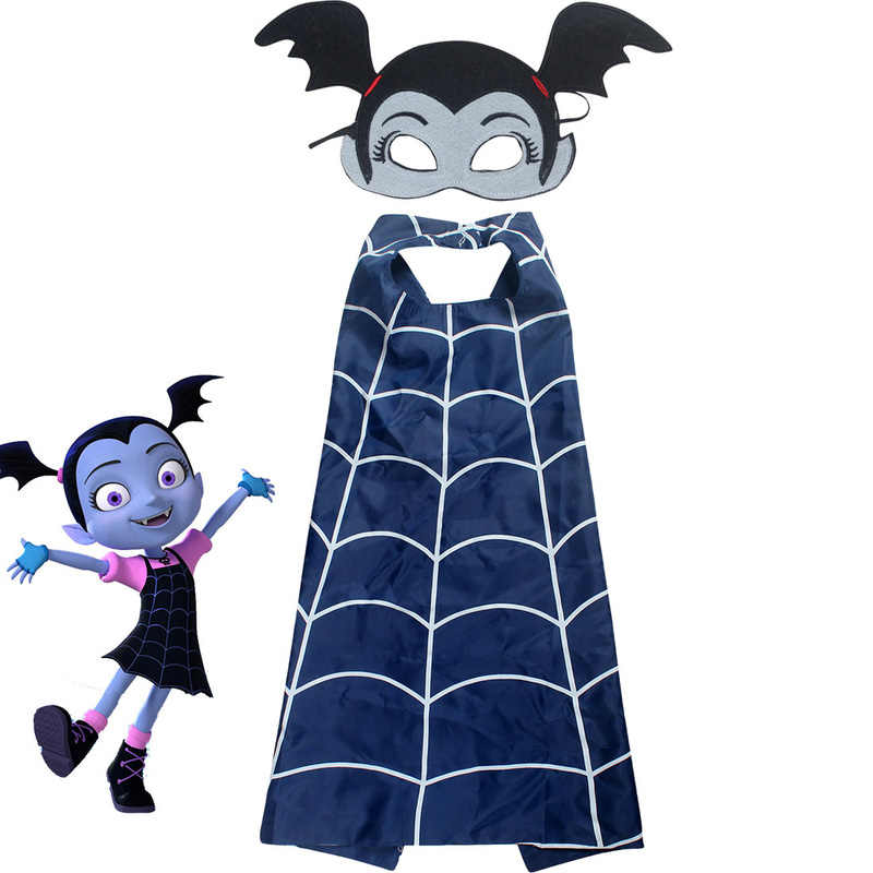 Girls Cloak Vampirina Cosplay Cloak Cape Mask Headband Girl Cosplay Clothes Party Christmas Gift Costumes Action Figure Toys