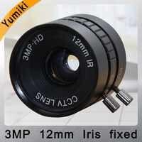 Yumiki 3MP HD 12mm 1/1.8 CCTV Lens CS mount IR Iris fixed 28.5 degree for Security IP Camera