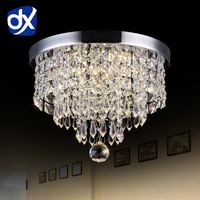 Modern LED Ceiling Lights For Living Room Surface Mounted Crystal Abajur Ceiling Lights Crystal Lamp Ceiling