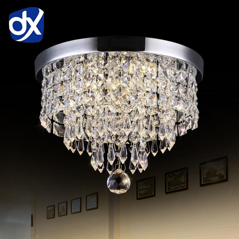 Modern LED Ceiling Lights For Living Room Surface Mounted Crystal Abajur Ceiling Lights Crystal Lamp Ceiling