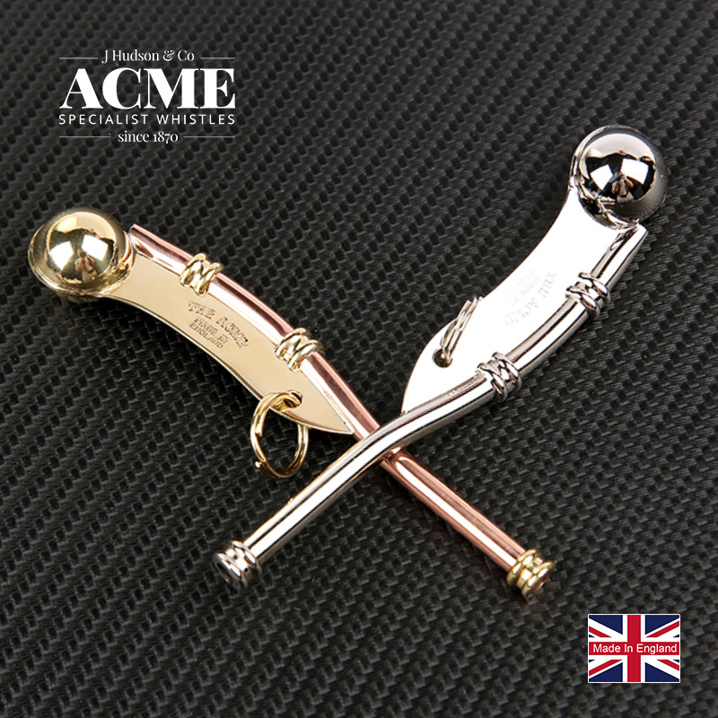 ACME Boatswain Pipe Classic Sailor Whistle Navy Signal Conductor Metal Whistle Soundtrack Whistle image