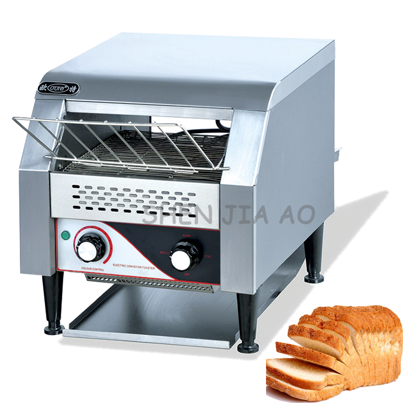 220V 1.34KW 1PC Commercial chain type of toaster oven TDL-150 vertical bread furnace toaster food processing equipment electric conveyor toaster ct 150 conveyor toaster oven 150 180 slices of bread 1hr