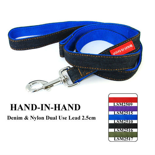 2.5cm Lively Pet Dog Denim & Nylon Dual Use Lead (5 Colors) 5pcs/lot free shipping LSM2509