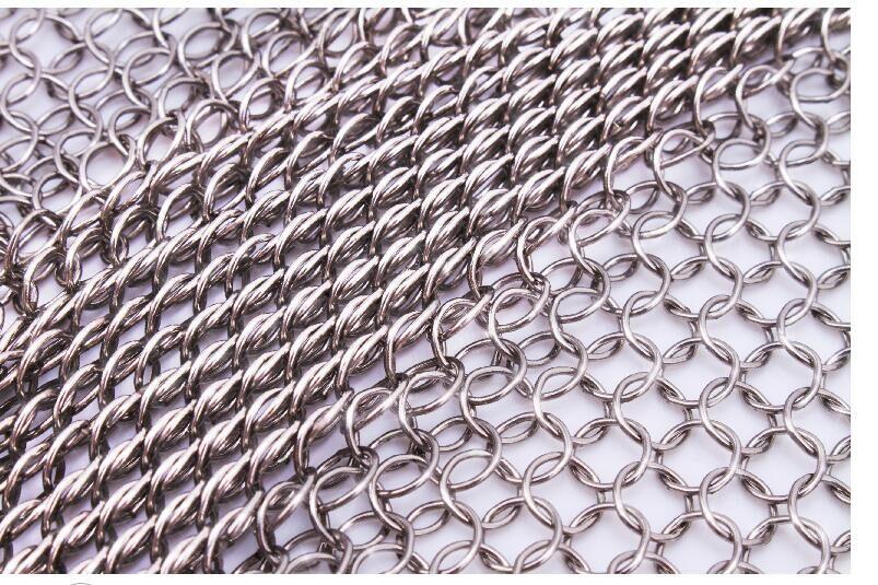 7mm Chain Mail Stainless Steel Decorative Mesh Custom