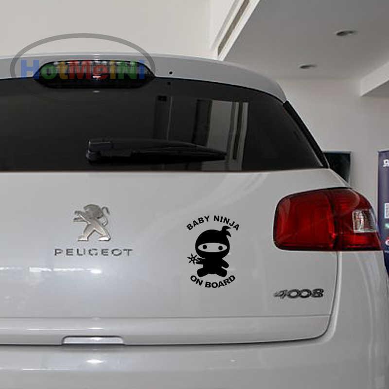 HotMeiNi 13,7 см * см 10 см Детские ниндзя на борту виниловая наклейка автомобиля Наклейка для автомобиля внедорожник грузовик бампер авто дверь Забавный JDM милый ребенок безопасность