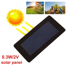 BCMaster Durable Solar Panel Foldabing Flexibility 0.3W 2V Waterproof Charging Solar Generator Charger Solar Cells