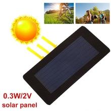 BCMaster Durable Solar Panel Foldabing Flexibility 0.3W 2V Waterproof Charging Solar Generator Charger Solar Cells