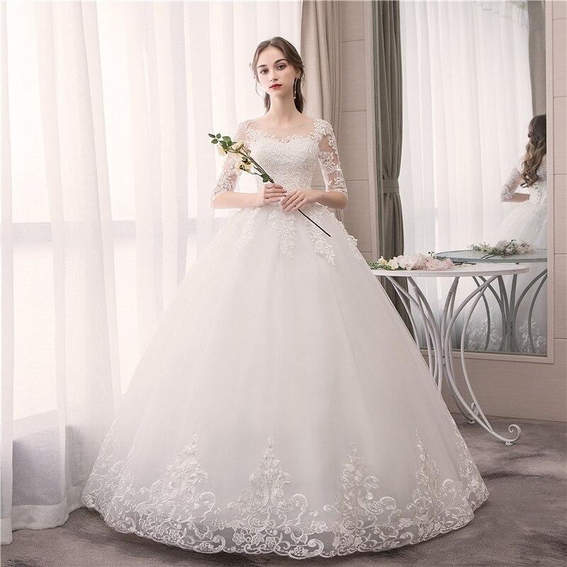 Do Dower dentelle demi manches O cou robe de mariée mode Slim broderie à lacets grande taille sur mesure robe de mariée Casamento L