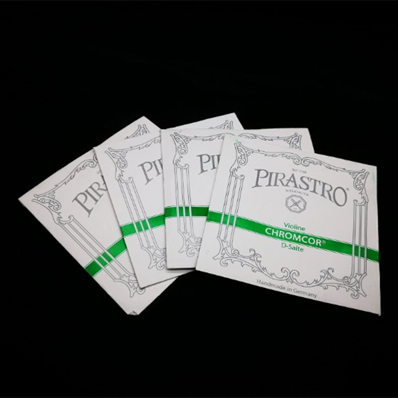 Full Set Pirastro Chromcor 4/4 Violin Strings Set (319020) Steel Core Medium Gauge with Black-Ball End Violino made in Germany