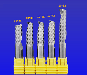 Image 5 - 8/10/12mm shaft 1PCS,Class 3A 1 Flute End Mill,CNC milling Cutter,Tungsten carbide woodworking router bit tool,PVC,MDF,Acrylic
