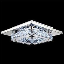Luxury  LED K9 Crystal Ceiling Light For Living Room 110-240v Lustre Lamparas Techo Balcony aisle Crystal Lamp Length 210mm