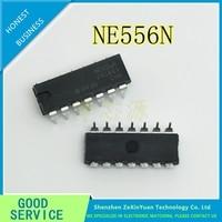 20 ชิ้น/ล็อต NE556N NE556 556 DIP-14 Dual Bipolar TIMER IC
