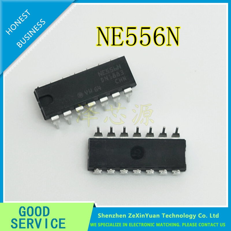 20PCS/LOT  NE556N NE556 556 DIP-14 Dual Bipolar Timer IC