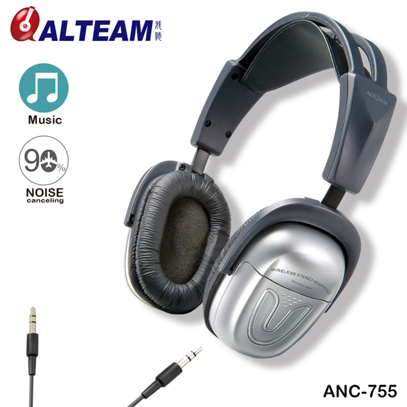 купить For Mp3 Mp4 Player Music High Bass Wired Comfortable Foldable Silver Pro Active Noise Canceling Noise Cancelation Headphone недорого