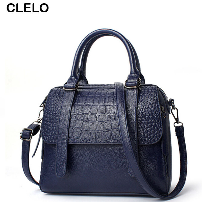 CLELO 2017 Luxury Designer Handbags Women Bags Female Fashion Alligator Pu Leather Shoulder Bag Ladies Handbag Organizer New