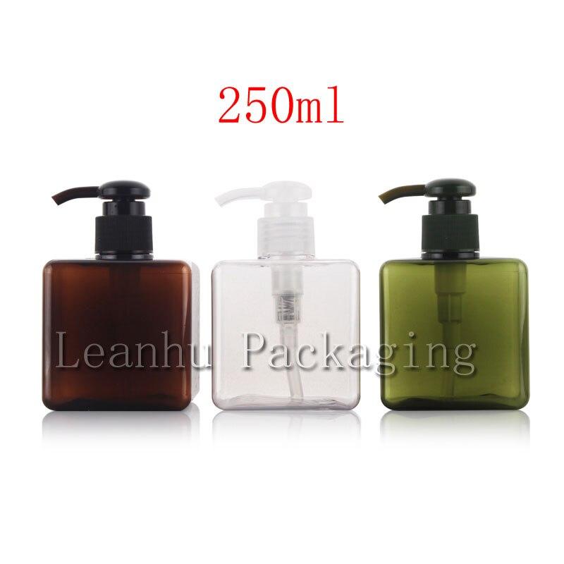 250 ml X 12 lege vierkante crème lotion pomp plastic flessen voor - Huidverzorgingstools - Foto 1