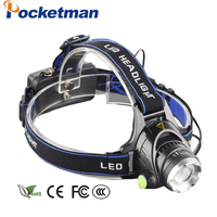 Zoom Rechargeable Headlight 18650 Led Headlamp Waterproof XM L T6 4000LM Head Lamp Light oomable 67